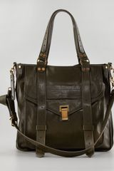 Proenza Schouler Ps1 Small Leather Tote Bag Military - Lyst