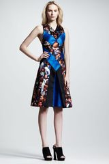 Proenza Schouler Testprint Silk Flare Dress - Lyst