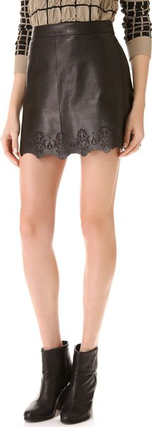 Rag & Bone Leather Mini Skirt - Lyst