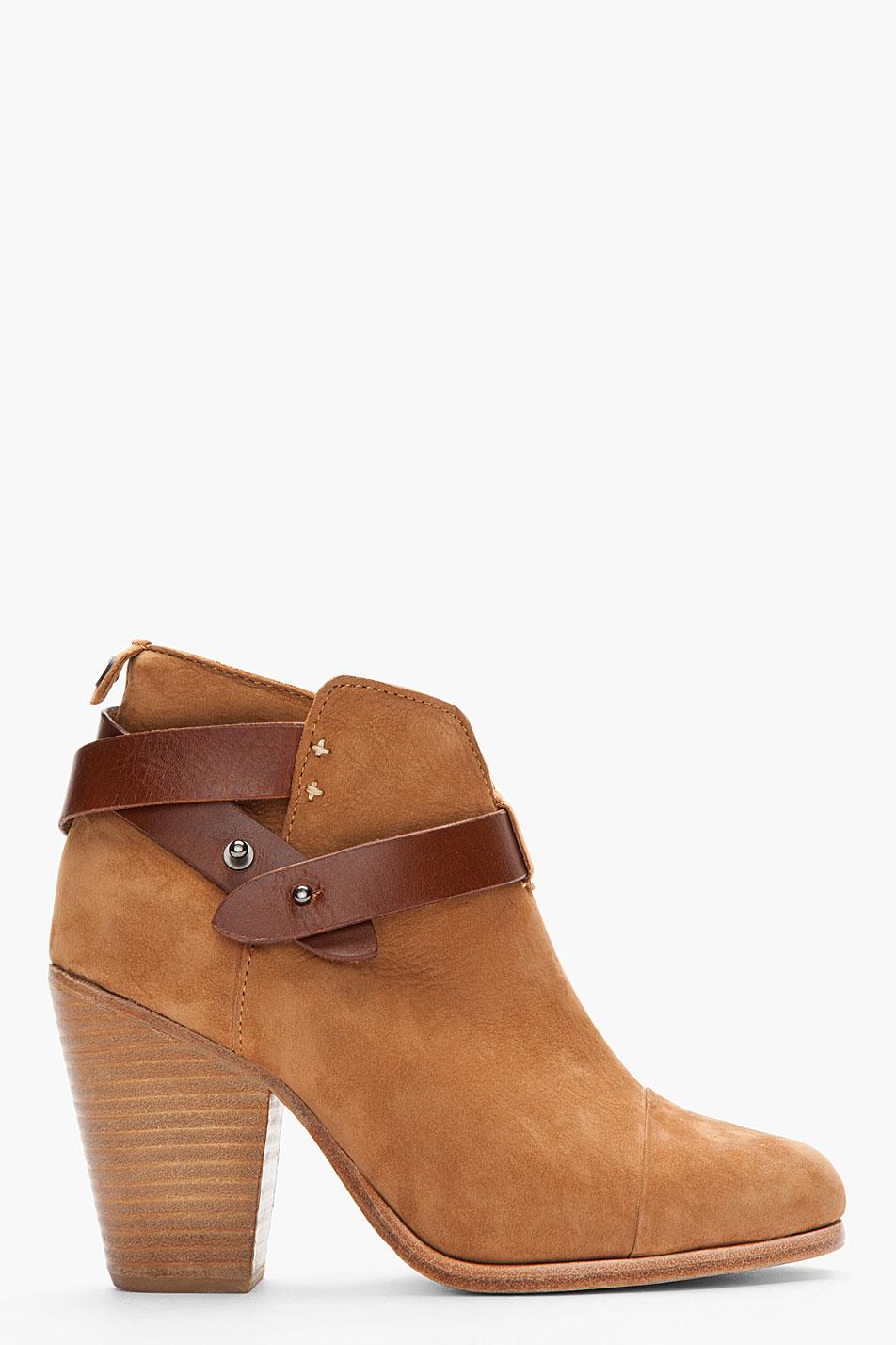 rag bone nubuck leatherstrap harrow ankle boots in