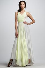 Sachin & Babi Pleated Sleeveless Maxi Dress - Lyst