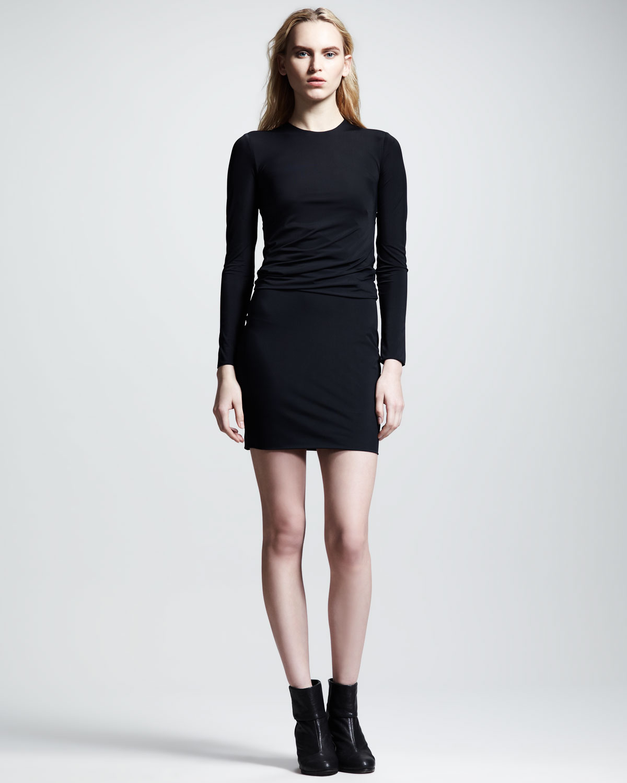 9b23dc3e7071 Lyst - T By Alexander Wang Matte Tricot Twist Dress in Black
