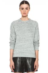 T By Alexander Wang French Terry Crew Neck Sweatshirt in Light Heather Grey - Lyst