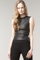 The Row Gilmore Leather Top - Lyst