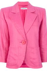 Yves Saint Laurent Vintage Wide Lapel Blazer - Lyst