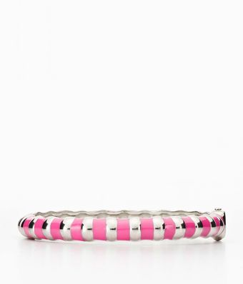 Ann Taylor Candy Stripe Bangle - Lyst