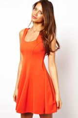 ASOS Collection Asos Structured Skater Dress - Lyst
