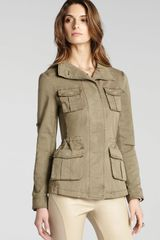 BCBGMAXAZRIA Jacket Bronnen Safari Open Back - Lyst