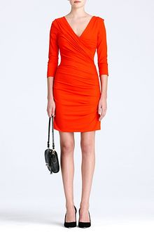Diane Von Furstenberg Bentley Short Ruched Dress - Lyst