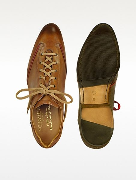forzieri mens brown handmade italian leather laceup shoes