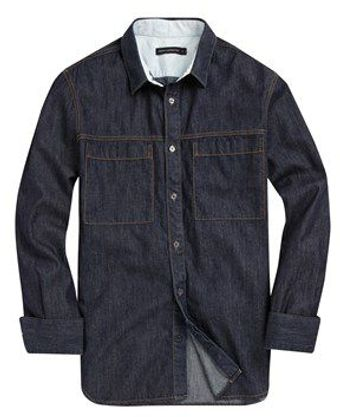 French Connection Enforcement Denim Shirt - Lyst