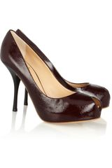 Giuseppe Zanotti Patent Leather Peep Toe Pumps - Lyst
