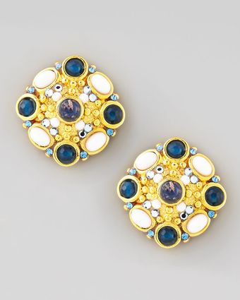 Jose & Maria Barrera Cluster Button Clip Earrings - Lyst