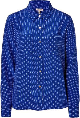 Juicy Couture Seasideangel Polka Dot Silk Blouse - Lyst