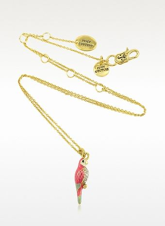 Juicy Couture Parrot Mini Wish Necklace - Lyst