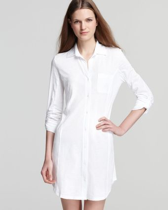 Lauren by Ralph Lauren Essentials Roll Cuff Sleep Shirt - Lyst
