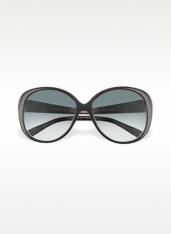 Marc By Marc Jacobs Signature Acetate Round Frame Sunglasses - Lyst