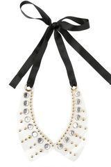 Marni Studs and Crystals Pvc Collar - Lyst