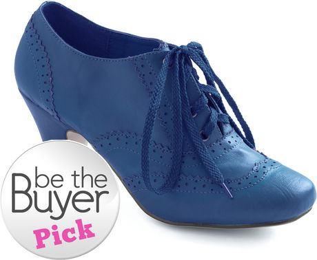 Modcloth Dance Instead Of Walking Heel in Blue in Blue - Lyst