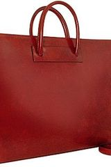 Pratesi Ladies Polished Dark Brown Leather Classic Briefcase - Lyst