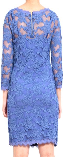 Rebecca Taylor Lace Shift Dress In Periwinkle In Blue Lyst