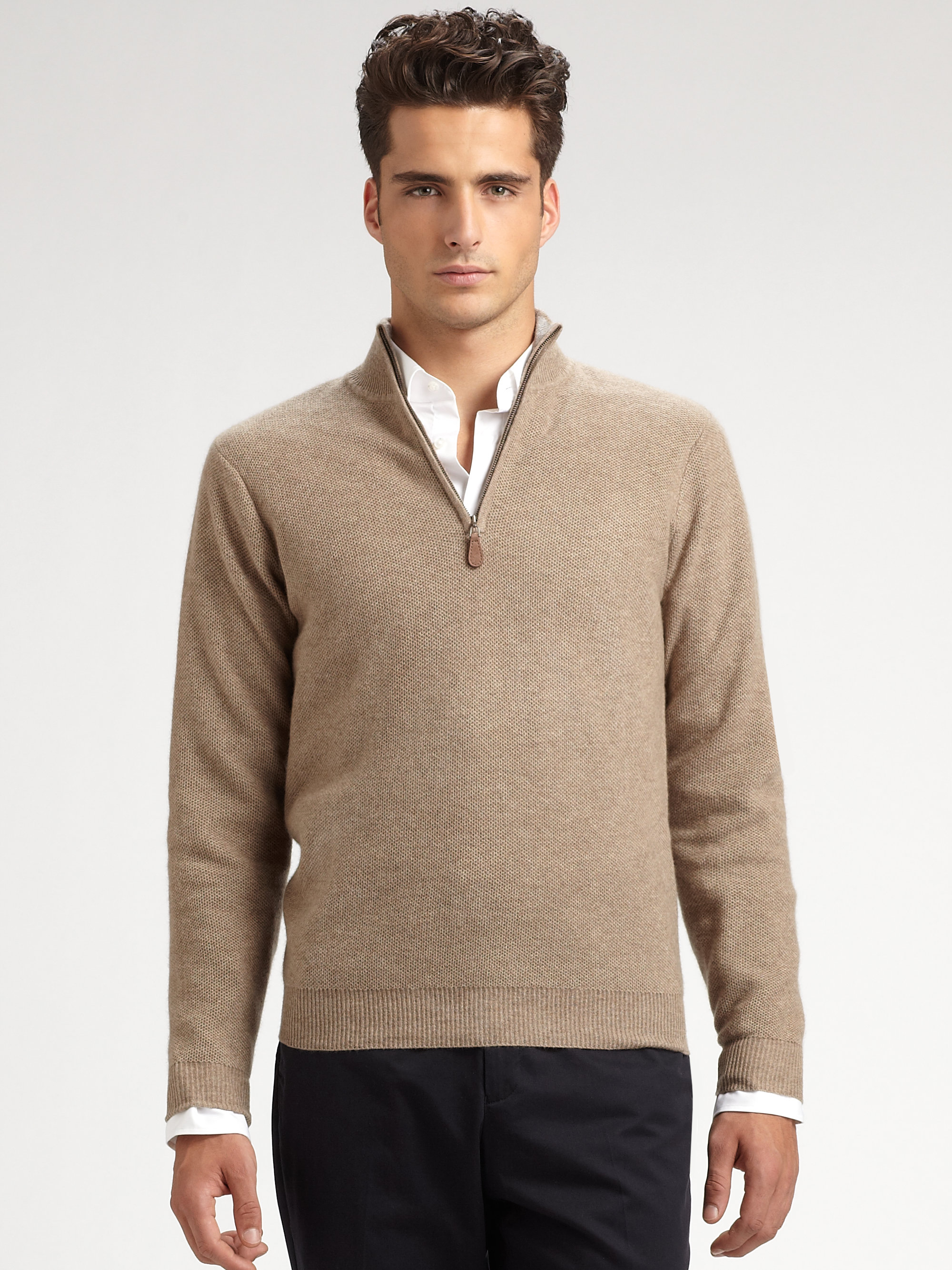 Ah, sweater weather. When the days get colder, the need for the perfect thick knitted layer is essential to nailing men's style. Make some space in your winter wardrobe for the classic cashmere sweater with updated colors, fits, and styles that work for any guy's fashion sense.
