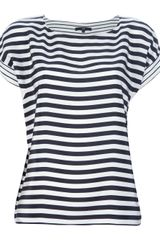 Tibi Striped Top - Lyst