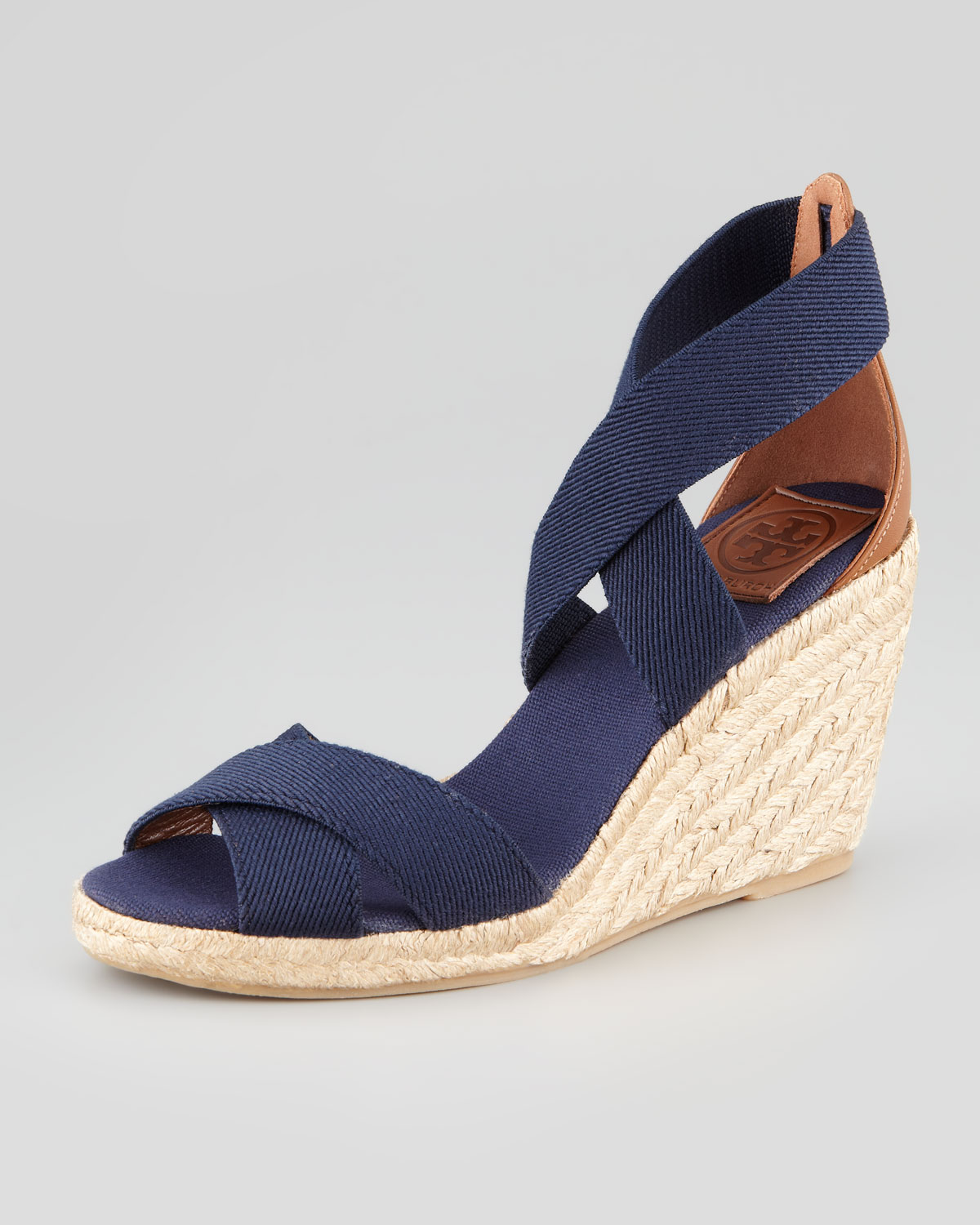 50df2c7a8237 Lyst - Tory Burch Adonis Stretch Espadrille Wedge in Blue