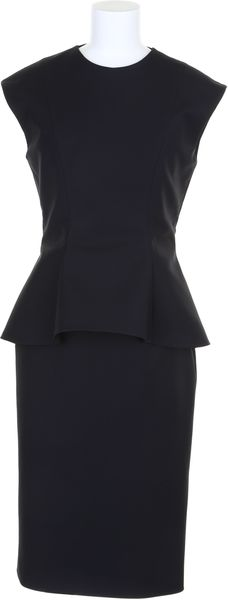 Dior Pencil Dress with Peplum Waist Flap - Lyst
