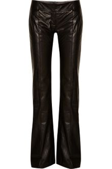 Balmain Leather Wideleg Pants - Lyst