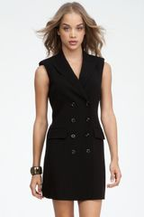 Bebe Double Breast Sleeveless Dress - Lyst
