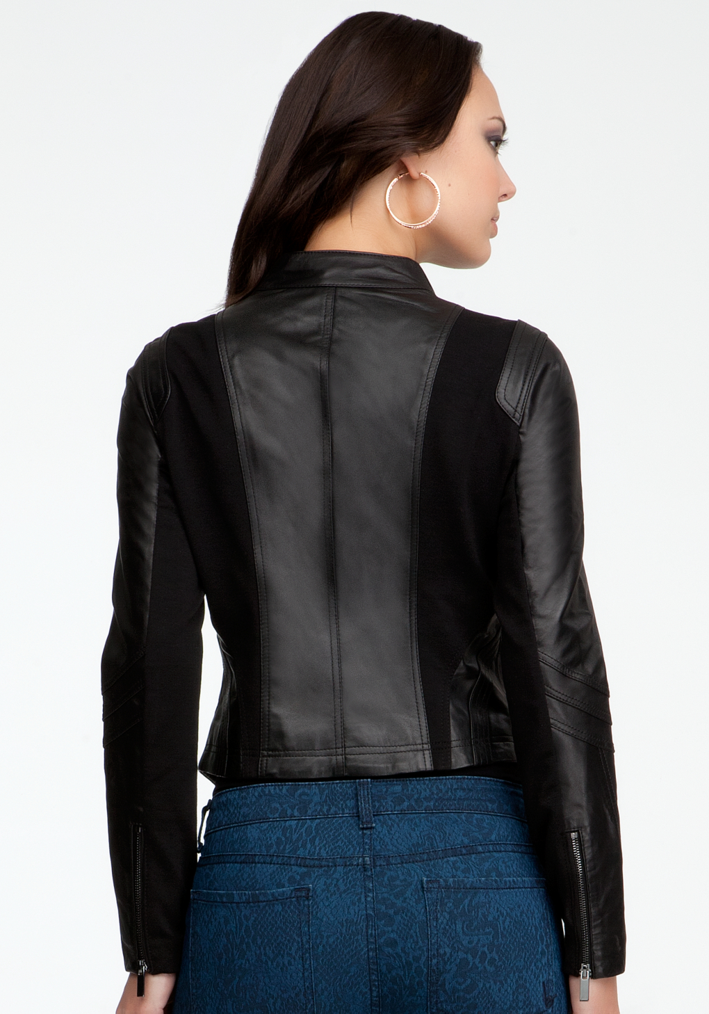 Bebe leather moto jacket