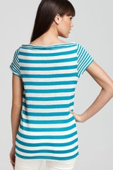 Burberry Brit Stripe Cowl Neck Tee - Lyst