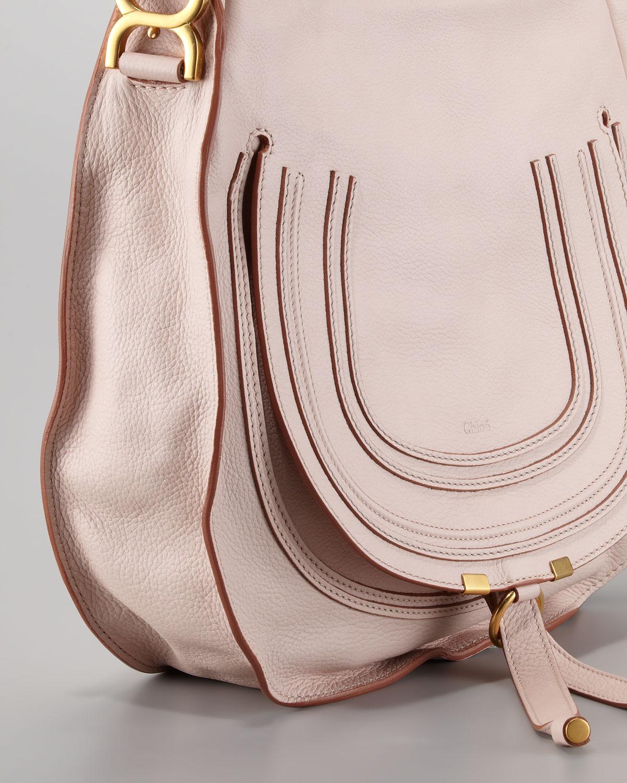 ca4ffa3f3b7 Chloé Marcie Medium Hobo Bag Nude Pink in Pink - Lyst
