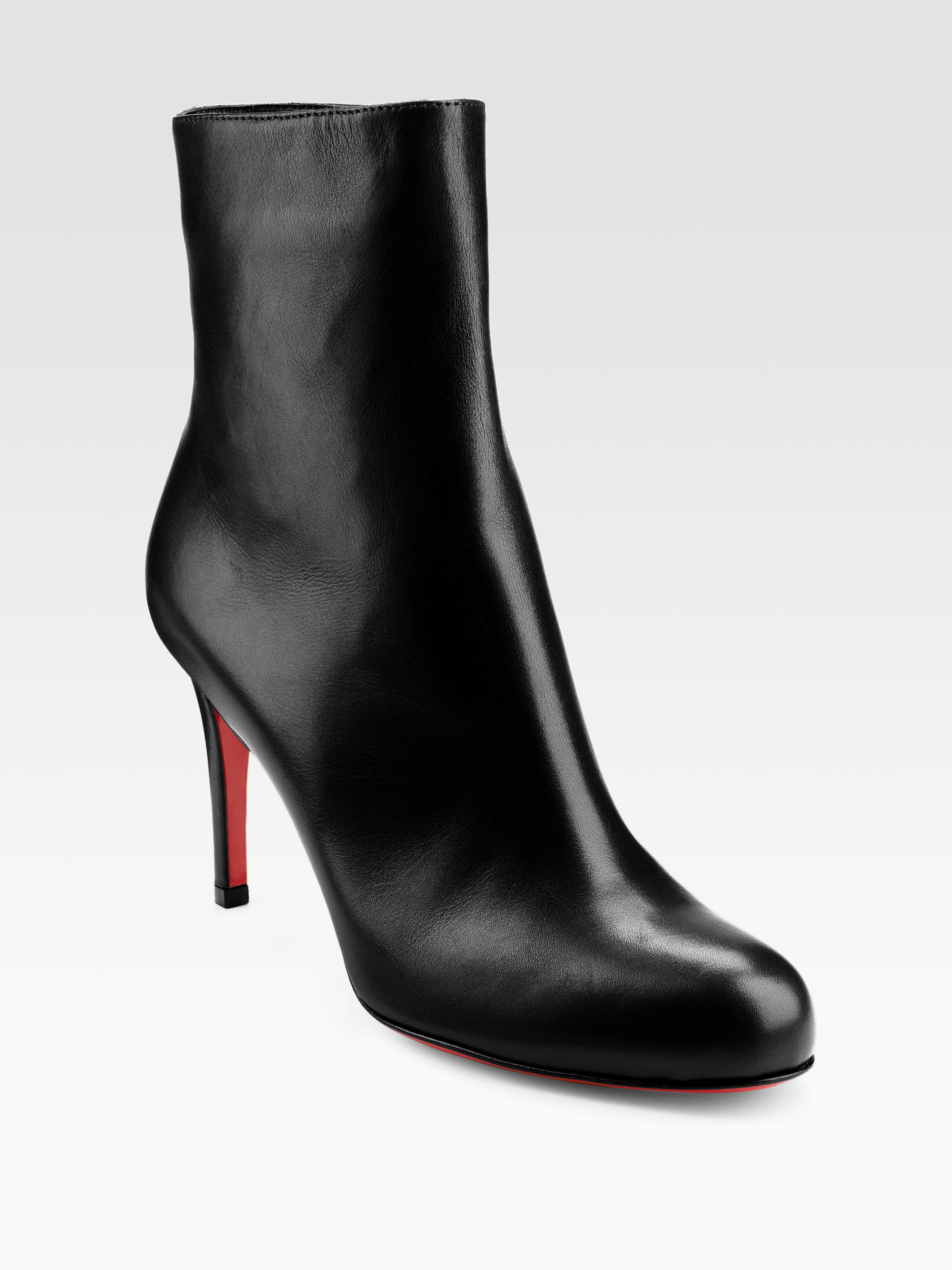 louboutin spikes sneakers - Christian louboutin Simple 85 Leather Ankle Boots in Black | Lyst