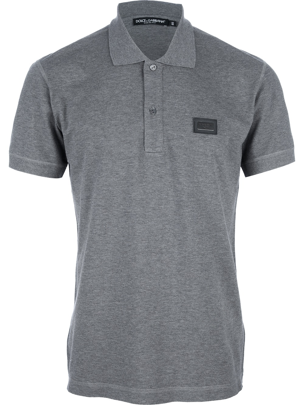 dolce gabbana polo shirt in gray for men grey lyst