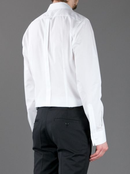 Mens White And Black Striped Shirt