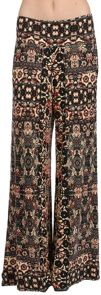 Free People Print Knit Pant in Orange Combo - Lyst