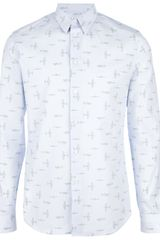 Givenchy Fighter Jet Print Shirt - Lyst