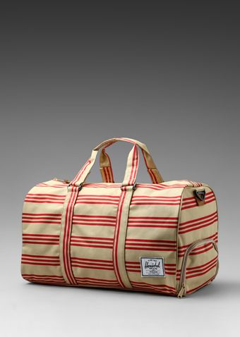 Herschel Supply Co. Invitational Collection Novel Duffle in Redkhaki Stripe - Lyst