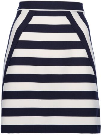 Marc By Marc Jacobs Striped Skirt - Lyst