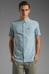 RVCA Thatll Do Oxford Ss Shirt in Aegean Blue - Lyst
