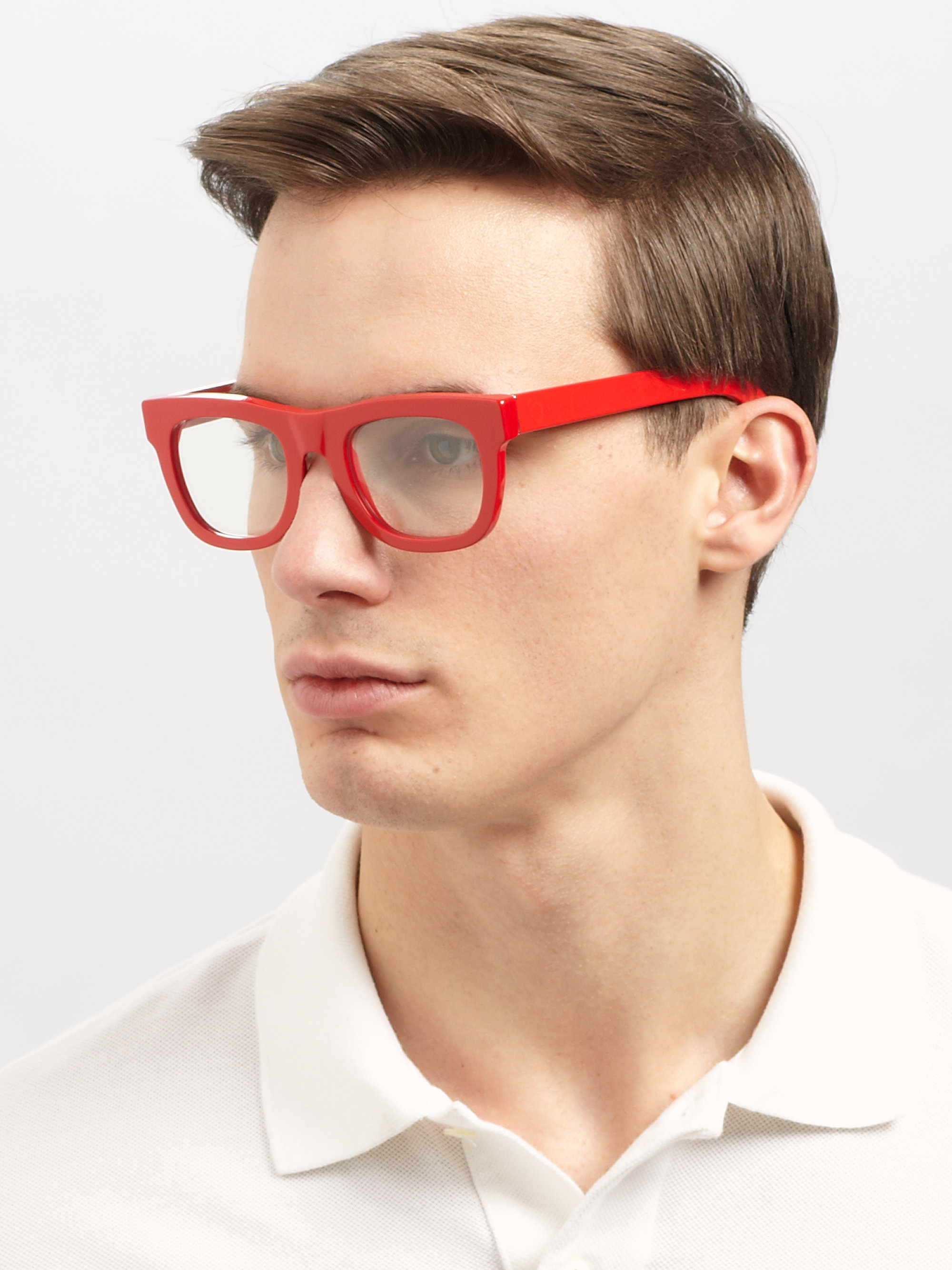 lyst retrosuperfuture red optical frames in red for men