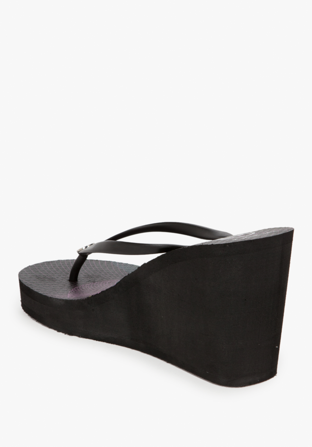 Lyst Bebe Rose Hi Wedge Flip Flop In Black