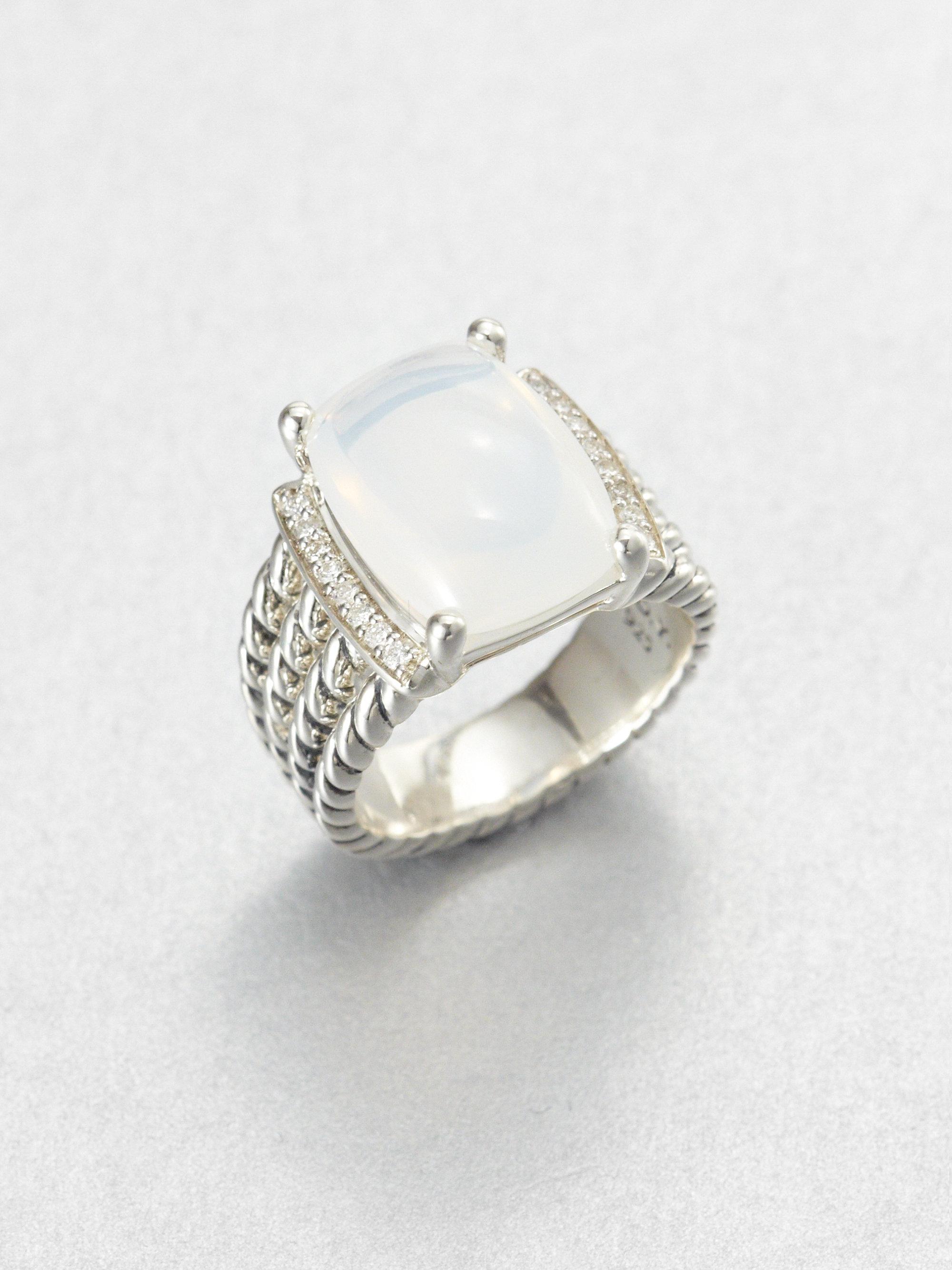 david yurman moon quartz and sterling silver ring