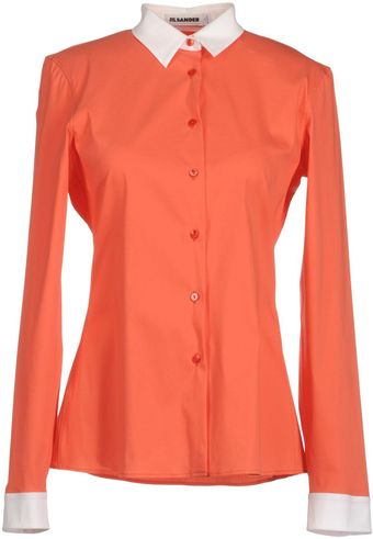 Jil Sander Long Sleeve Shirts - Lyst