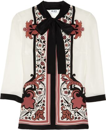 Alice By Temperley Nijinsky Printed Silk Top - Lyst
