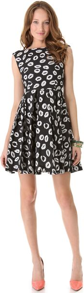 Alice + Olivia Allegra Flare Dress - Lyst