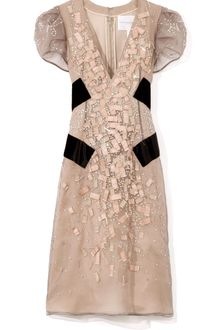 Carolina Herrera Silk Georgette Dress - Lyst