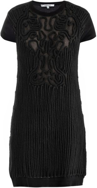 Carven Cornley Detail Knitted Dress - Lyst